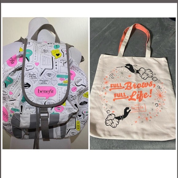 Discontinued benefit backpack and tote